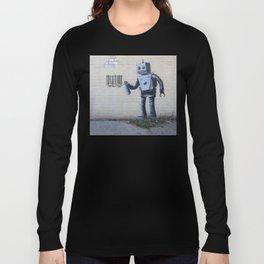 Banksy Robot (Coney Island, NYC) Long Sleeve T-shirt