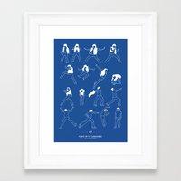 flight of the conchords Framed Art Prints featuring Flight of the Conchords by Niege Borges