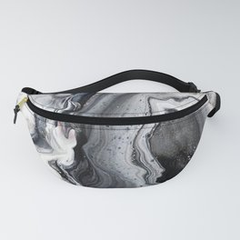 Marble B/W/G Fanny Pack