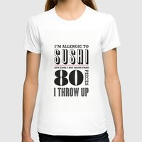 sushi T-shirts featuring Sushi by paperchatshop
