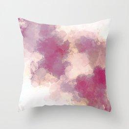 Mauve Dusk Abstract Cloud Design Throw Pillow