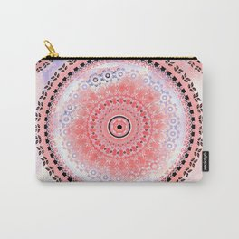 Coral Cloud Mandala Carry-All Pouch