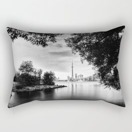 Toronto Black and White Rectangular Pillow