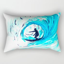 Surfer in blue Rectangular Pillow