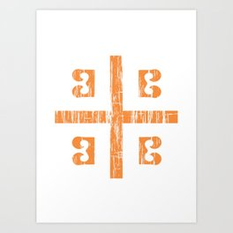 Byzantine Cross Art Print