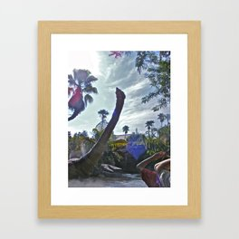 Jurassic Voyage! Framed Art Print