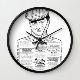 The Man from Del Peckham he says... Wall Clock