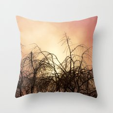 Red Skies Throw Pillow
