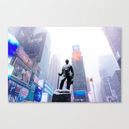 Snowy Times Square, NYC Canvas Print