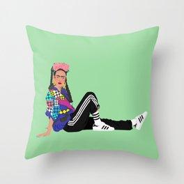 90s Frida Throw Pillow