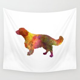 Welsh Springer Spaniel in watercolor Wall Tapestry