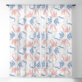 Spotted Dog Pattern Sheer Curtain