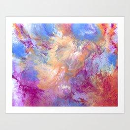 Jellyfish Swim By Art Print