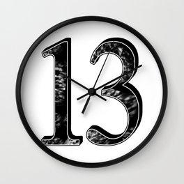 13 b-w Wall Clock