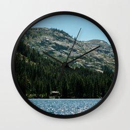 Mountain Canoe Wall Clock