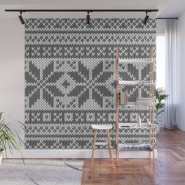 Winter knitted pattern4 Wall Mural