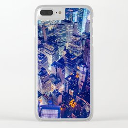 Manhattan From Above Clear iPhone Case
