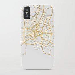 BANGKOK THAILAND CITY STREET MAP ART iPhone Case