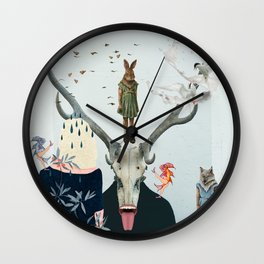 Waiting Together Alone Wall Clock