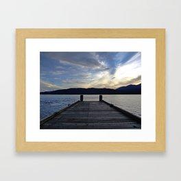 Pier at Lake Te Anau, New Zealand Framed Art Print