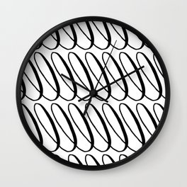 Curly Pattern 11 Wall Clock