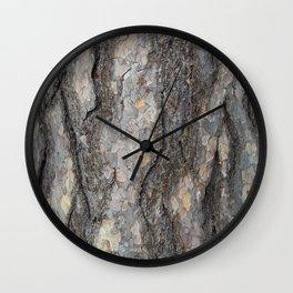 pine tree bark - scale pattern Wall Clock