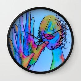 ASL Grandmother in Blue Overtones Wall Clock