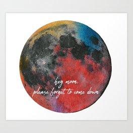 hey moon Art Print