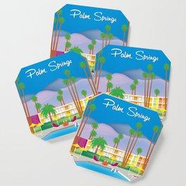 Palm Springs, California - Skyline Illustration by Loose Petals Coaster