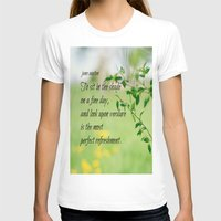 jane austen T-shirts featuring Jane Austen Refreshment by KimberosePhotography