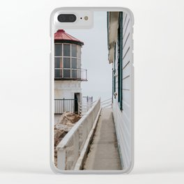 Point Reyes Lighthouse up close Clear iPhone Case