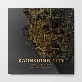 Kaohsiung City, Taiwan - Gold Metal Print