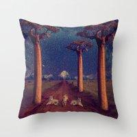 battlestar galactica Throw Pillows featuring Tiger Galactica  by Jordan Eppinette
