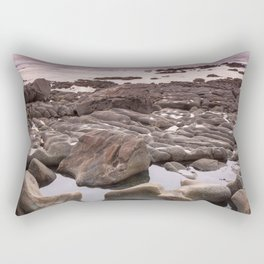 Abstract rock shapes in the beach Rectangular Pillow