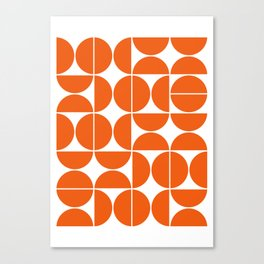 Mid Century Modern Geometric 04 Orange Canvas Print