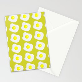 fried eggs pattern Stationery Cards