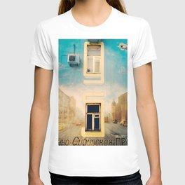 Russian mural T-shirt