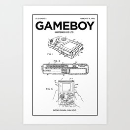 Gameboy Poster • Gamer Prints • Nintendo Patent Printable • Gift For Gamer • Games Gift • Boys Decor Art Print