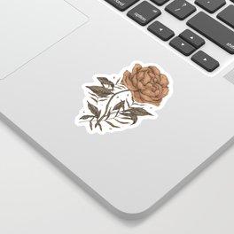 Peony and Ferns Sticker