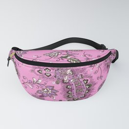 hipster pink paisley Fanny Pack