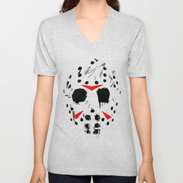 Classic Horror Movie mask of Jason Voorhees  Unisex V-Neck