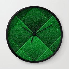 Plush Kelly Green Diamond Wall Clock
