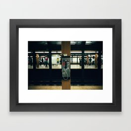 Metro Phone Call Framed Art Print