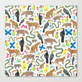 Jungle/Exotic Animals Canvas Print