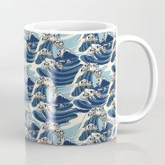 The Great Wave of Pug Pattern Mug
