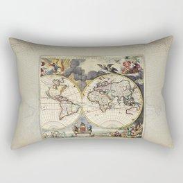 World Old Map Rectangular Pillow
