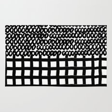 Circles and Grids Rug
