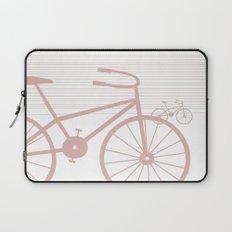 Pink Bike by Friztin Laptop Sleeve