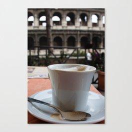 Colosseum Cappuccino Canvas Print