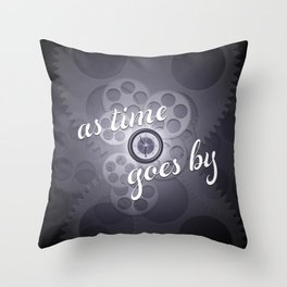 """""""As Time Goes By"""" - black and white vector artwork Throw Pillow"""